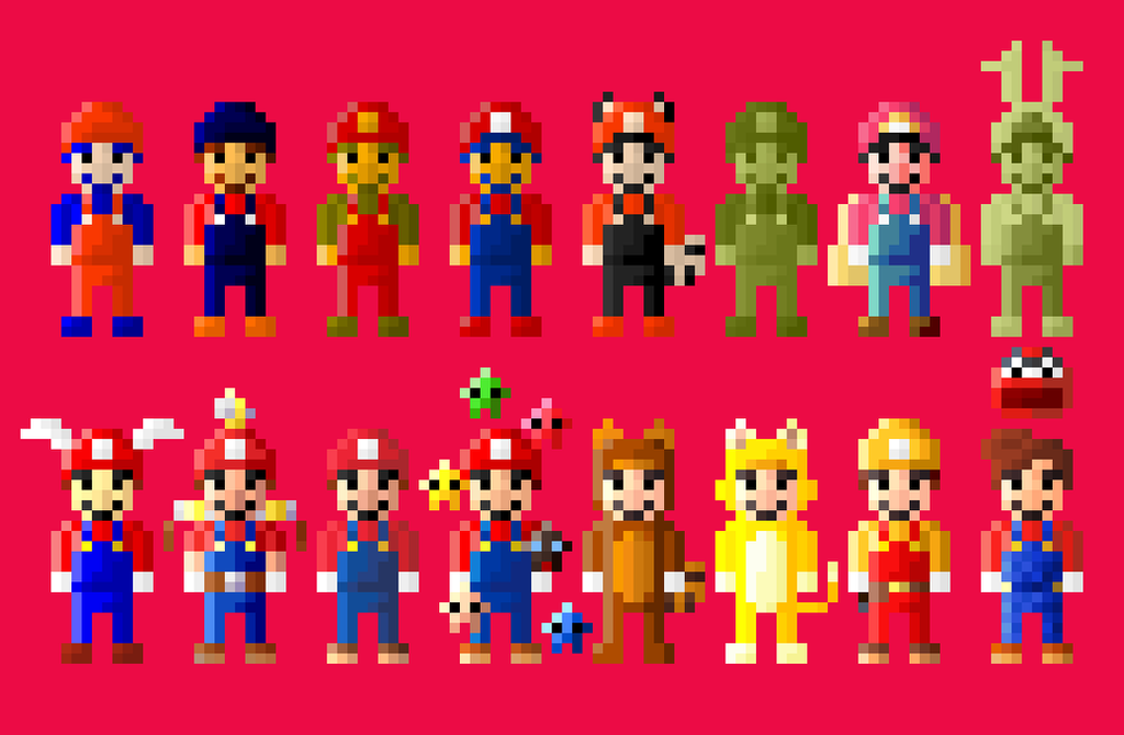 Evolution of super mario 8 bit by lustriouscharming on - Pictures of 8 bit mario ...