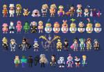 Super Smash Bros Ultimate Costumes 8- bit