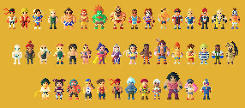 Street Fighter IV Characters 8 bit (Remastered)