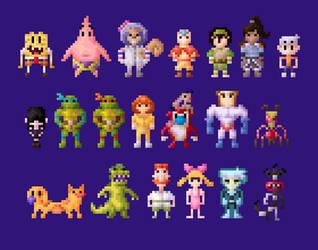Nickelodeon All-Star Brawl Characters 8 Bit