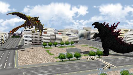 Godzilla Vs MegaGuirus In MMD