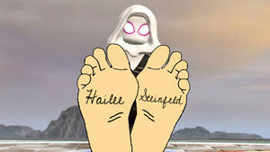 Spider Gwen's Feet With Signature
