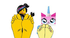 Wyldstyle and Unikitty's Feet