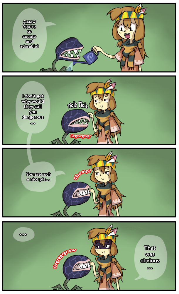 SA: Side Quest : Feed the Deku Baba by M3xD on DeviantArt