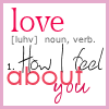 Definition of Love icon by retroposh