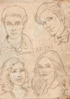 The new team TARDIS by ScarletMoonbeam