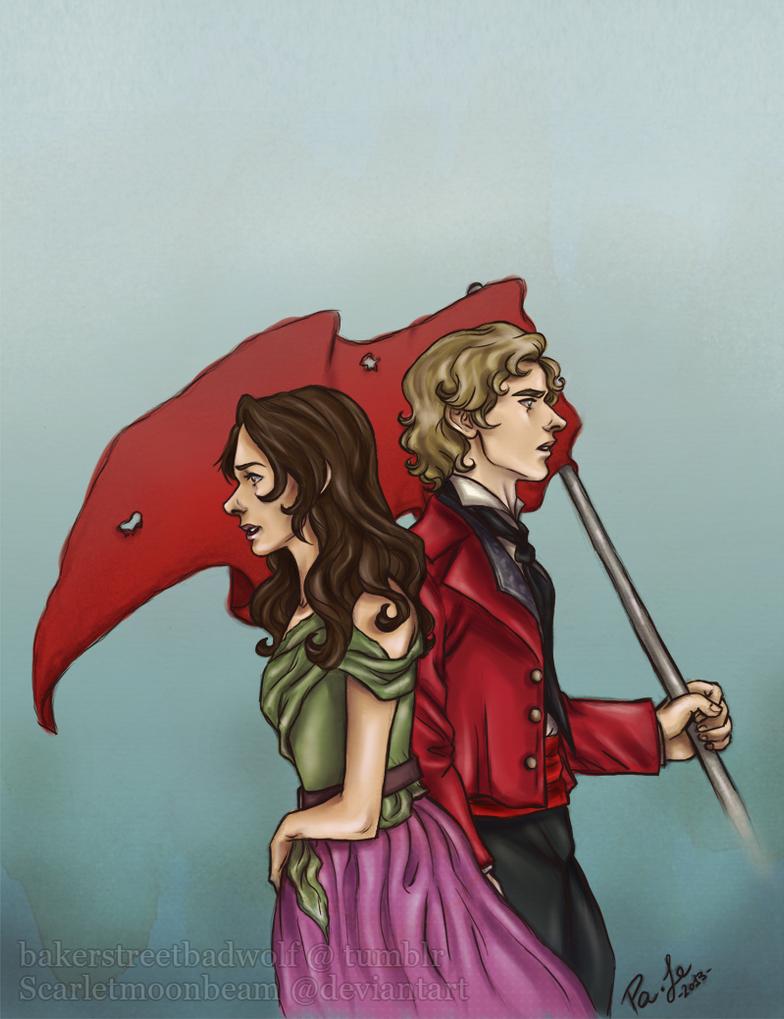 Enjolras and Eponine by ScarletMoonbeam
