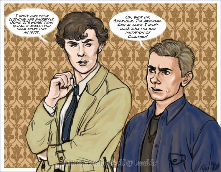 Sherlock and John - For letsdrawsherlock