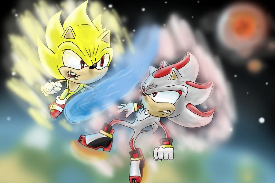 Super Sonic vs. Super Shadow by AncoPro on DeviantArt
