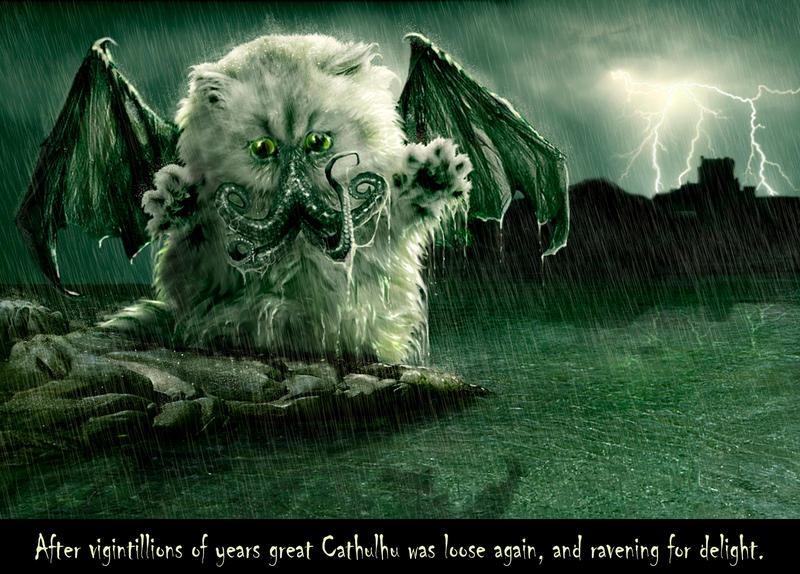 Cat-Thulhu Awakens by Generationsphotoart
