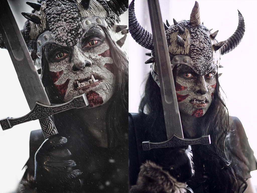 Orc make-up by Elena-NeriumOleander