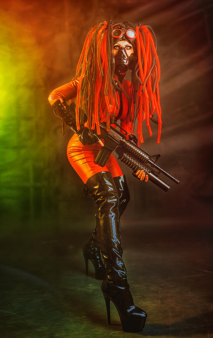 Cyberpunk warrior by Elena-NeriumOleander