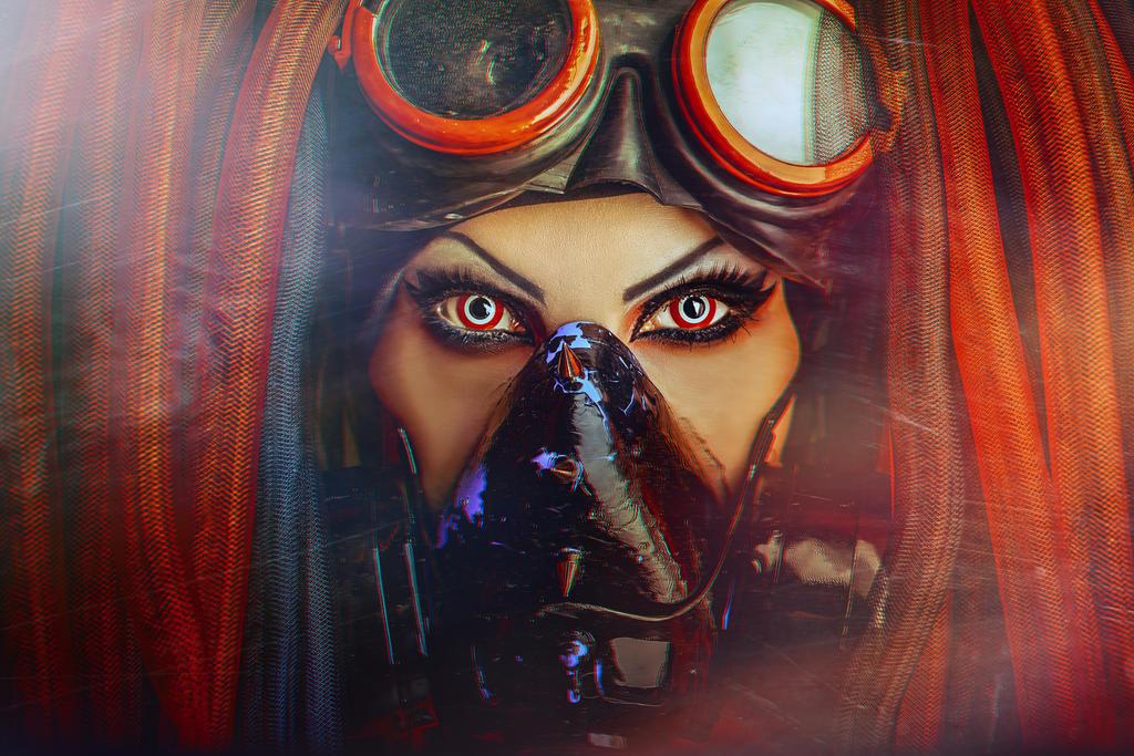 Cyberpunk portrait by Elena-NeriumOleander