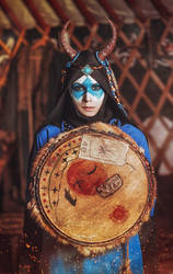 Blue shaman by elenasamko