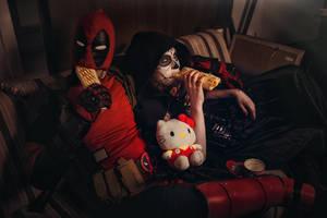 DeadPool and Mistress Death Cosplay