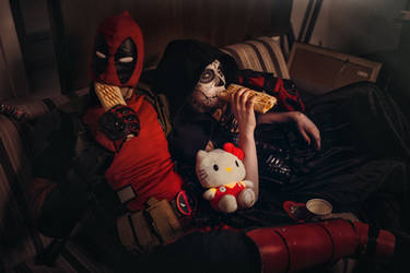 DeadPool and Mistress Death Cosplay