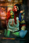 Poison Ivy and Harley Quinn Cosplay