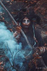 Pagan Shaman by elenasamko