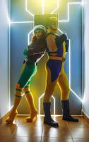 Rogue Wolwerine X-MEN Cosplay by elenasamko