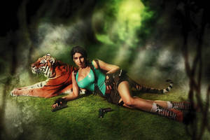 Lara Croft - Tomb Raider cosplay by elenasamko