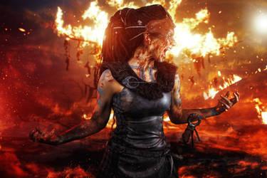 Senua Hellblade Cosplay by elenasamko