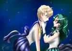 Sailor Neptune X Sailor Uranus by DokkanDoodle