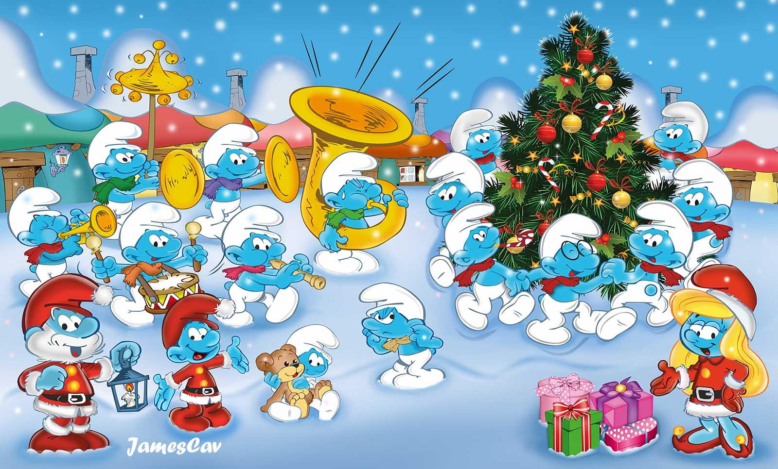 Smurfs Christmas.The Smurf Christmas By Jamescav On Deviantart
