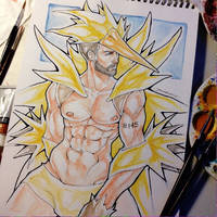 #145 Zapdos by Joesomesauce
