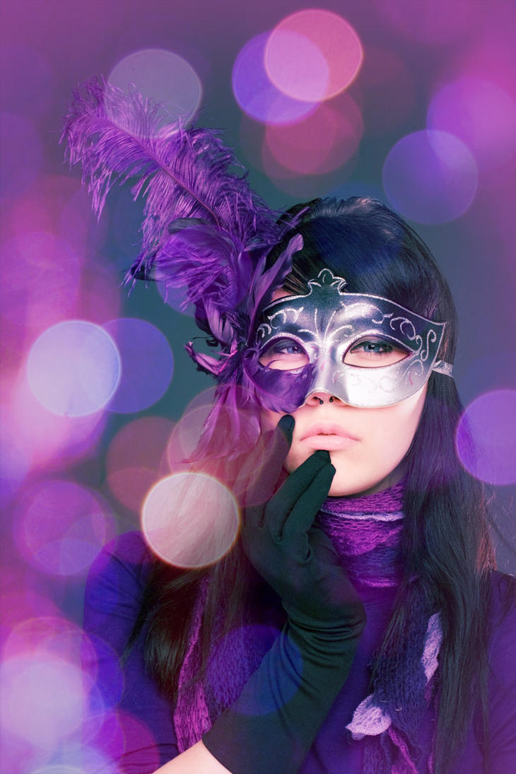 Influ in violet mask by LoginOFF