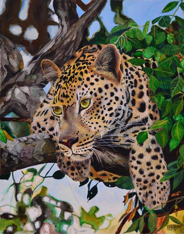 Pensive Leopard by Mararda