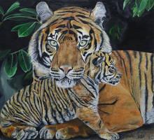 Kirana And Her Cub by Mararda