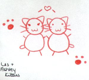 ashley and les kitties by traumaticgirl