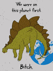 The Angry Dinosaur by gargoyl3