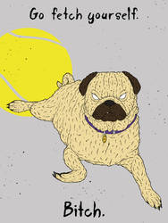 The Angry Pug by gargoyl3