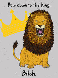 The Angry Lion by gargoyl3