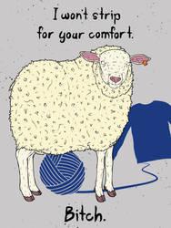 The Angry Sheep by gargoyl3