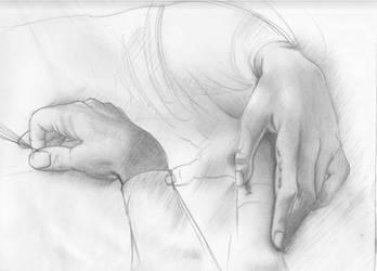Leonardo's 'Study of Hands' by Mystified-Dreamer