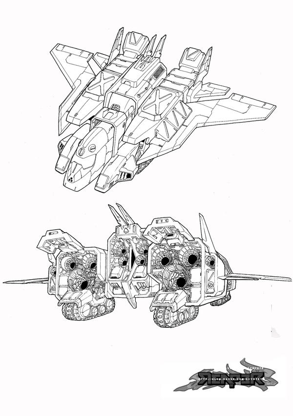 concept art - aircraft by reaper78