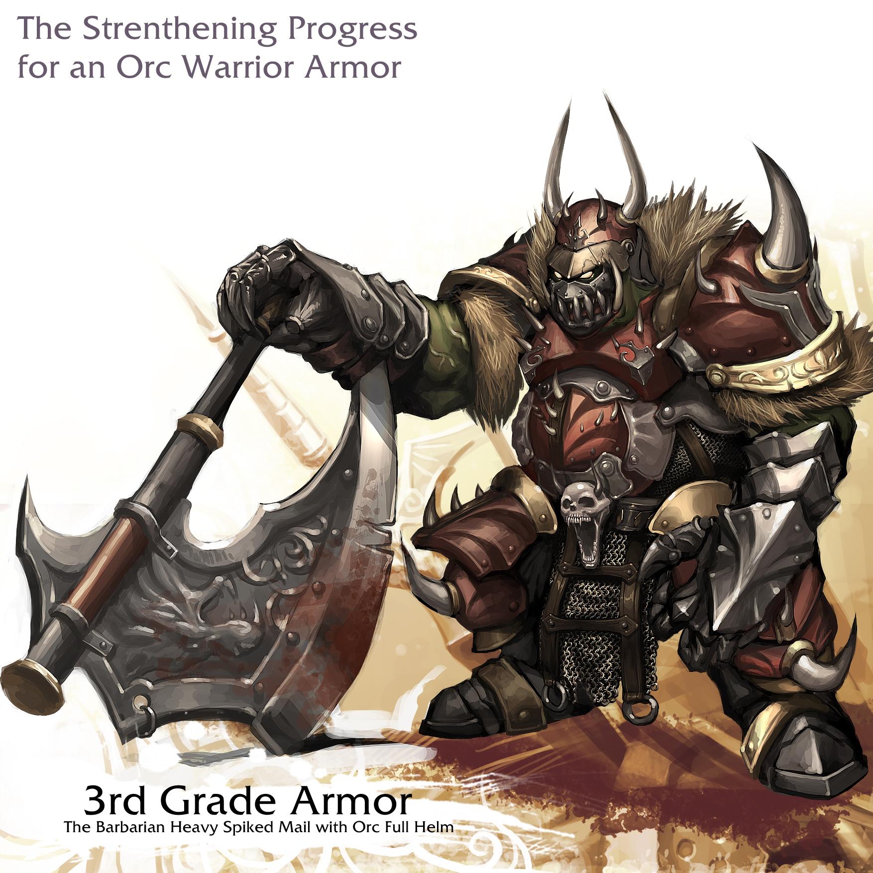 Orc warrior - 3rd Grade Armor