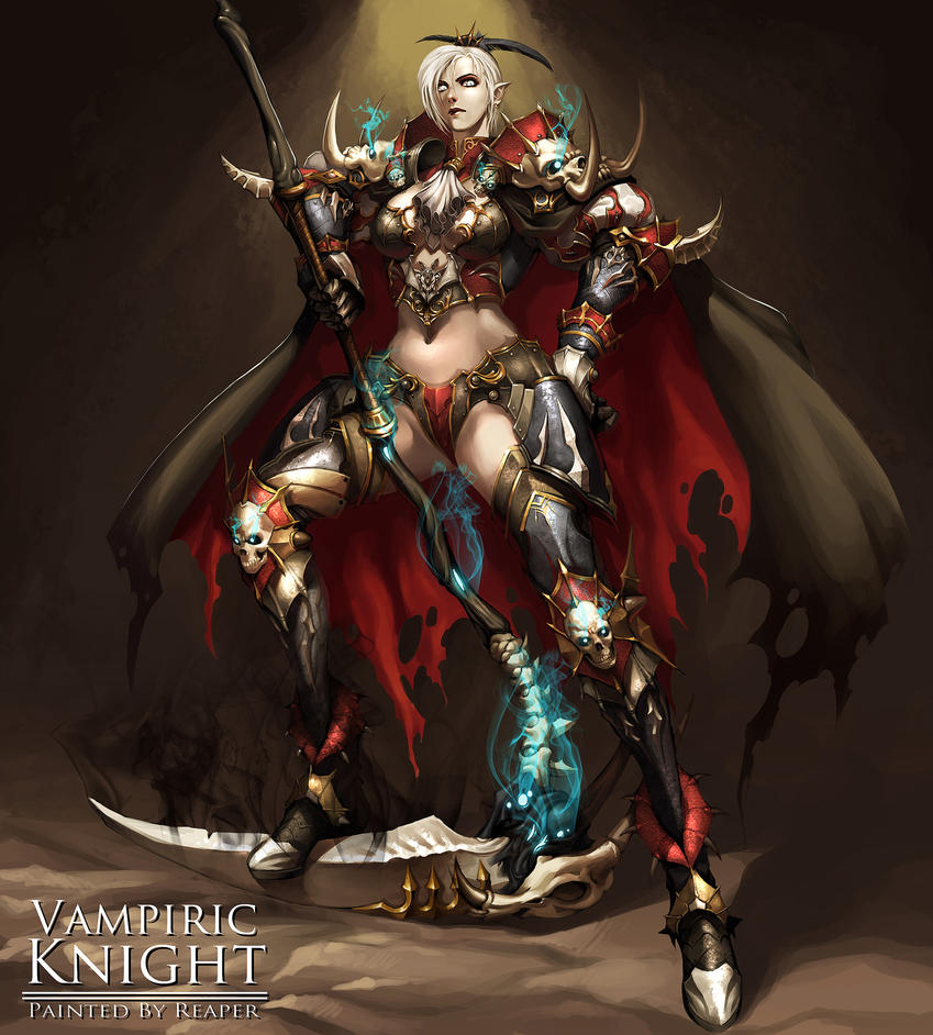 Female Vampiric Knight by reaper78