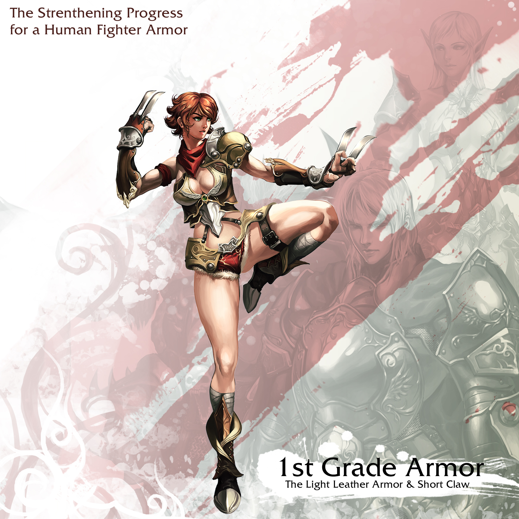 Human Female Fighter 1st Armor