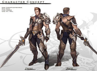 Concept : Human Male Warrior by reaper78