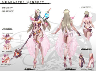 Concept :Elven Female Magician