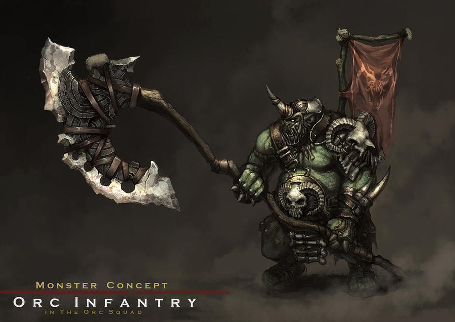 Concept : an orc infantry by reaper78