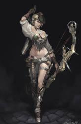 Steampunk Female Archer