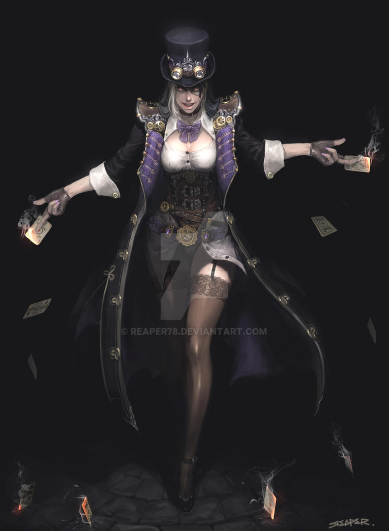 Steampunk Female Thief by reaper78