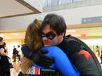 Bucky hugs
