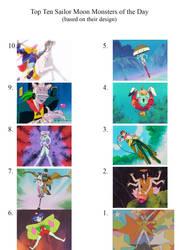 Top 10 Sailor Moon MOTD designs