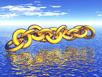 Chain over water by xalthorn