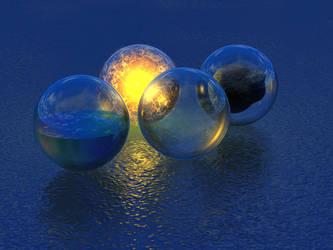 Elemental Spheres by xalthorn